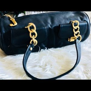 Juicy Couture Leather Barrel Bag